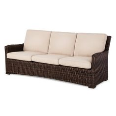 • Made of powder-coated steel and wicker<br>• Rust and weather resistant<br><br>Create an outdoor living space with the addition of the Halsted Wicker Patio Sofa from Threshold. This outdoor patio couch seats 3 and comes with plush back and seat cushions.