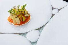 Raw salmon with leeks, goat cheese and herbs | FOUR Magazine