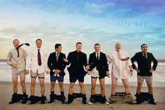 I would not be surprised to be going through my wedding photos and see one like this. silly boys.