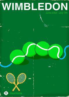 Wimbledon Poster - by Paul Thurlby