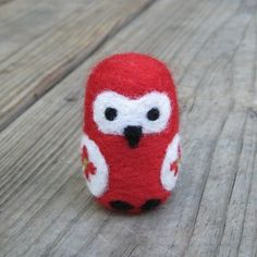 needle felted owl by chocolatebeans on Etsy, $14.00