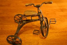Antique English Tricycle Toy by thevintagepicker on Etsy,