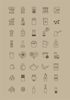 Free Icon Set for Coffee Store