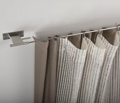 Spannstange by Nya Nordiska Closet Curtains, Ceiling Curtains, Bed Curtains, Home Decor Furniture, Furniture Design, Diy Curtain Rods, Curtain Wire, Home Design Living Room, Tap Room