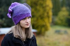 Women's Hat Winter Women Hat Slouchy Beanie by Isabellwoolstudio