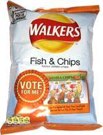 Walkers Fish & Chips Flavour Potato Crisps