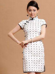 Dots Short Cheongsam / Qipao / Chinese Dress