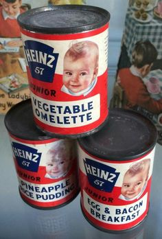 1960's Heniz 57 tinned baby food.