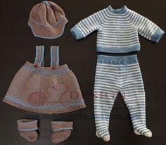 """Poppenkleding baby born - """"alledaagse kleding"""" gebreid voor mijn pop"""