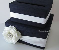 Items similar to Wedding Gift Card Money Box Holder, black and white personalized card box, customized event card holder, Money box, tiered card box on Etsy Money Box Wedding, Wedding Gift Boxes, Wedding Cards, Wedding Gifts, Diy Wedding, Dream Wedding, Wedding Ideas, Gift Cards Money, Ring Pillows