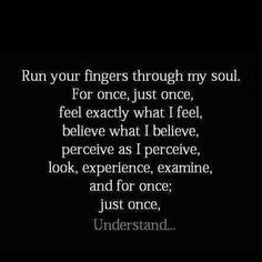 understand...