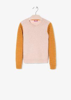 Pull-over texturé laine