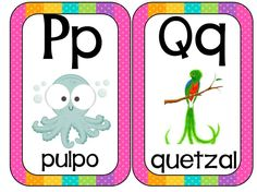 Printable cards in animal alphabet format – educational images Abecedario Animales formato tarjetas - Baby Development Tips School Worksheets, Kindergarten Worksheets, Alfabeto Animal, Spanish Lessons For Kids, Learn Portuguese, Preschool Writing, Teaching The Alphabet, Alphabet Coloring Pages, Spanish Language Learning