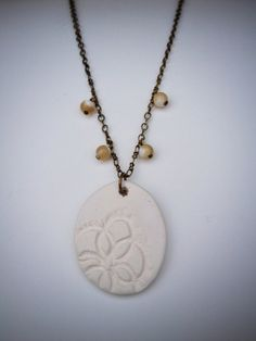 Diffuser necklace for essential oils by VerityCeramics on Etsy