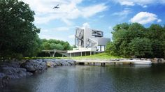 A sleek villa built using salvaged airplane parts by Urban Office Architecture. More on ignant.de...