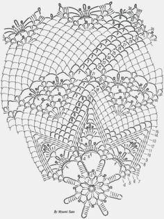 Crochet Tablecloth Pattern – Large Circular Lace Dolly More Patterns Like This! Crochet Tablecloth Pattern, Crochet Doily Diagram, Crochet Borders, Crochet Mandala, Crochet Art, Crochet Squares, Thread Crochet, Filet Crochet, Crochet Motif