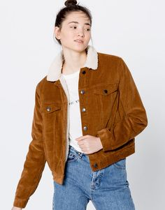 Corduroy jacket - Clothing - New - Woman - PULL&BEAR Greece