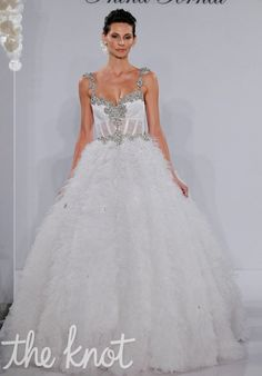 Kleinfeld-Pnina Tornai Exclusives - 4130  Gown features beading and embroidery.