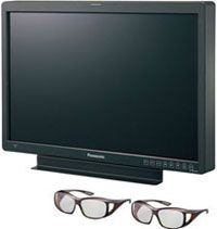 PANASONIC 25.5 INCH 3D PRODUCTION MONITOR  The new Panasonic 3D production monitorhas a 25.5 inchesscreen only, but it sports a 1920 x 1200 resolution. It's a 3D display that works with polarized glasses and takes HD-SDI and DVI-D inputs. Price:9,900 $. Availability: September 2010.