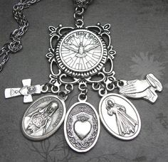 Holy Spirit & Sacred Heart Catholic Prayer by 12StarsJewelry