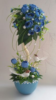 Новости Nylon Flowers, Diy Flowers, Flower Vases, Flower Decorations, Fabric Flowers, Tissue Paper Flowers, Paper Flower Backdrop, Christmas Topiary, Christmas Decorations