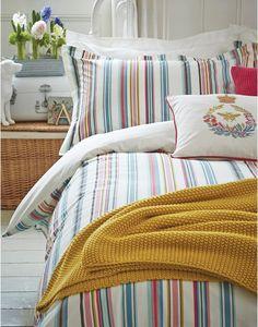 Multi Duvetbathstrp Bath Stripe Duvet Cover   Joules UK