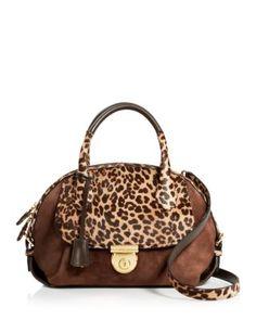 c3a03128a2bf Salvatore Ferragamo Fiamma Medium Leopard Calf Hair Satchel Handbags - All  Handbags - Bloomingdale s