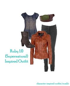 Ruby - Supernatural Inspired Outfit Requested by: Anon Supernatural Inspired Outfits, Supernatural Clothes, Supernatural Cosplay, Casual Cosplay, Cosplay Outfits, Cosplay Ideas, Character Inspired Outfits, Fandom Outfits, Fandom Fashion