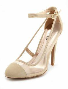Mesh Side Ankle-Strap Pump: Charlotte Russe