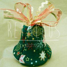 Ref.: SN_NT_05 Sino de Natal / Bell #Christmas Handmade #Patchwork