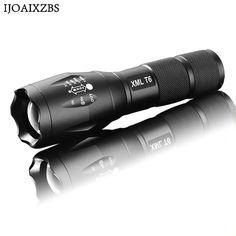 LED flashlight Tactical Flashlight 8000 Lumens CREE Zoomable 5 Modes aluminum Lanterna LED Torch Flashlights For Camping Torch Light, Led Flashlight, Self Defense, Portable, Lamp Light, Police, Military, Lights, Ebay