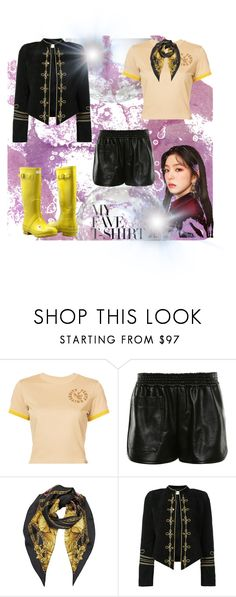 """""""My favorite T-shirt"""" by kategr ❤ liked on Polyvore featuring Puma, STELLA McCARTNEY, Versace, Yves Saint Laurent, Forever Young and MyFaveTshirt"""