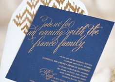 gold foil ikat envelope liners???  Yes, please.