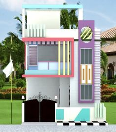 House Front Wall Design, Single Floor House Design, Bungalow House Design, Modern House Design, Building Elevation, House Elevation, Facade Design, Exterior Design, Front Elevation Designs