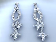pendientes de oro y brillantes. 18 k golden earrings with diamonds. Ana G.Näs