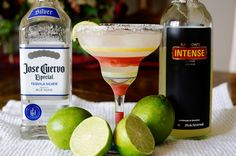 Ginger Margarita By Aperitif Friday  2 oz Jose Cuervo Tequila 2 oz Barrow's Intense Ginger 1.5 oz freshly squeezed lime juice Ice Lime to garnish