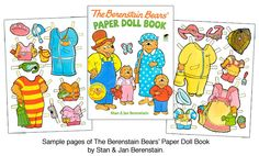 Berenstain Bears Paper Dolls