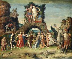 """The Parnassus""  Andrea Mantegna  Italian 1431-1506 c. 1497 Renaissance Tempera on canvas The Louvre, Paris, France"