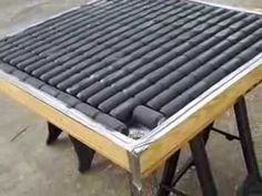 DIY Solar Heater Build…perfect for heating a greenhouse or cold frame - Home Greenhouse Supplies, Greenhouse Plans, Greenhouse Gardening, Greenhouse Wedding, Small Greenhouse, Diy Solar, Solaire Diy, Heating A Greenhouse, Solar Heater