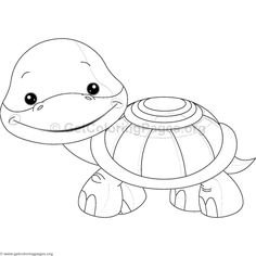 Little Turtle Animal Coloring Pages Animal Coloring Pages, Turtle, Cute Animals, Scrap, Printables, Crafty, Cookies, Patterns, Pretty Animals