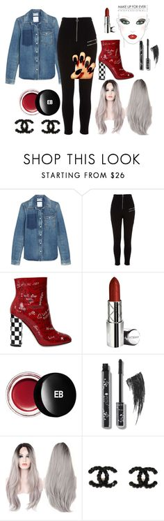 """""""Talk is overrated"""" by sin-carter ❤ liked on Polyvore featuring Valentino, River Island, Dolce&Gabbana, By Terry, Edward Bess and MAKE UP FOR EVER"""