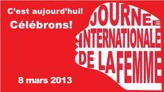 8 mars #femmes : Journée internationale de la femme - « Il y a une vérité universelle, applicable à tous les pays, cultures et communautés : la violence à l'égard des femmes n'est jamais acceptable, jamais excusable, jamais tolérable. » Ban Ki-Moon. http://www.un.org/fr/events/women/iwd/