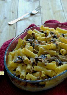 pasta al forno funghi e mozzarella