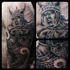 Viking Sleeve in progress by Chad Miskimon: TattooNOW :