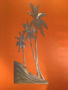 Hello, and thanks for looking at my metal wall art from the Salt Water Series . Dimensions for the listed item (Palm Tree beach scene) is 1 foot 8 inches wide by 4 foot tall. This metal artwork is made by hand with aircraft aluminum that will not rust or tarnish over time. Looks great inside on your wall, or outside on the deck or fence.  Price 245.00   About the artwork from the Salt Water Series All artwork from the saltwater series is made from aircraft aluminum and cut using a hand held…