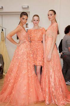 Elie Saab peach dresses