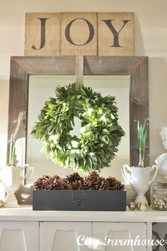 Join me as I share 10 of the most amazing Farmhouse-style Christmas Mantels on… Christmas Mantels, Noel Christmas, Country Christmas, Christmas Wreaths, Christmas Fireplace, Burlap Christmas, Silver Christmas, Christmas Villages, Victorian Christmas