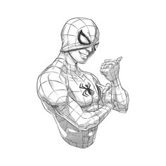 f drew this. Spiderman Tattoo, Spiderman Drawing, Spiderman Art, Amazing Spiderman, Art Sketches, Art Drawings, Avengers Drawings, Marvel Fan Art, Nerd Art