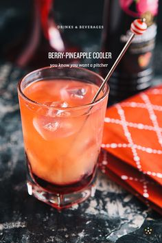 Berry-Pineapple Cooler: Because the Heat is just Insane | your favorite flavored vodka, pineapple juice, cranberry juice | click for recipe