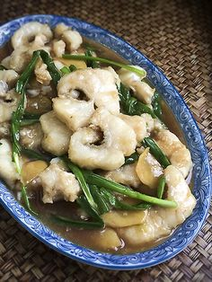 Sliced Garoupa with Ginger and Green Onions recipe - ieatishootipost Onion Recipes, Fish Recipes, Seafood Recipes, Cooking Recipes, Yummy Recipes, Seafood Soup, Seafood Dishes, Stir Fry Fish, Malaysian Food